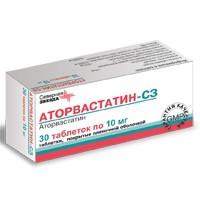 Аторвастатин-СЗ, табл. п/о пленочной 20 мг №30