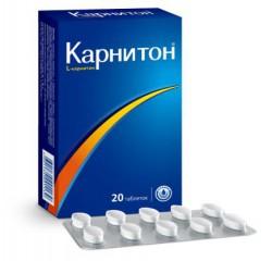Карнитон, табл. 500 мг / 1.04 г №20