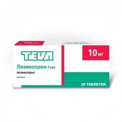 Лизиноприл-Тева, табл. 10 мг №30